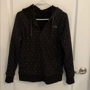 Reversible north face zip up hoodie